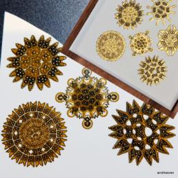 loodusvormid siirdepilt kuld, must 2
